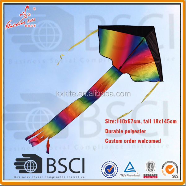 Easy flying huge rainbow delta kite for kids