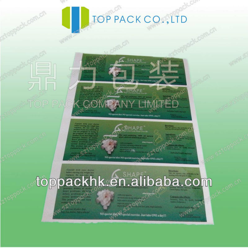 2013 hot sales profession customized paper adhesive label sticker/paper sticker