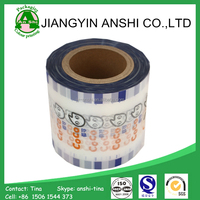 Food grade certificated plastic laminated bubble tea/jelly/coffee/ plastic cup sealing film