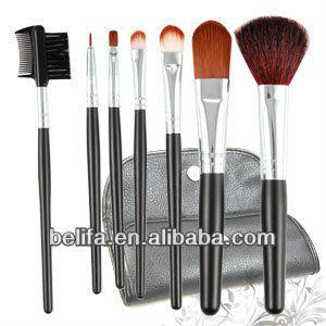 Pro 7 pcs Cosmetic Make up Brush Set w/ Case Makeup Kit