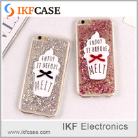 Bling Paillette Sequin Ice Cream Case Cover For Apple iPhone 6 Silicone 6 Series Soft TPU Crystal Case