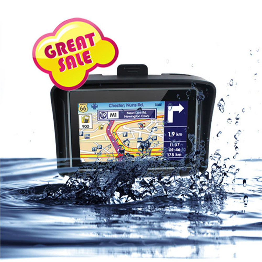 4.3 inch waterproof motorcycle GPS with factory price motorcycle gps navigator