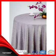 new series wedding restaurant jacquard table cover washable vinyl table cloth