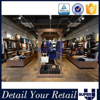 Guangzhou super u supply high quality mdf retail clothing fabric store display