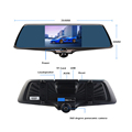 "5""inch touch screen 360 degree camera  dvr fish eye dual lens vehicle blackbox dvr user manual fhd 1080p car camera"