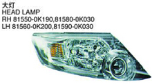 OEM 81550-0K190 81580-0K030 FOR TOYOTA FORTUNER 2014 Auto Car head lamp head light
