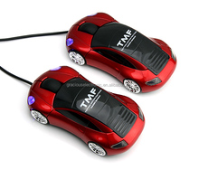 Branding logo car 3d optical wired mouse for sale