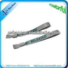 Promotion wristband fabric any color / size are avaiable