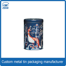 Custom printing cylinder colored attractive wholesale black tea tins