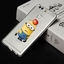 Hot sale case For huawei p9 plus despicable me minions design cartoon phone case