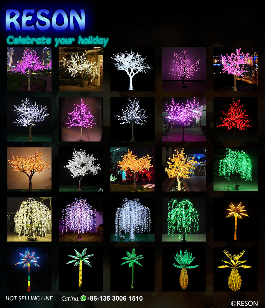 Artificial Waterproof Cherry Flowering LED Cherry Tree Lighting