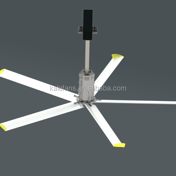 24FT/7.3M HVLS Automatic Large Ceiling Fan Industrial Ventilation Fan / Breeze Cooled ceiling fan with high rpm