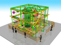 fuuny indoor outward bound adventure playground equipment for kids
