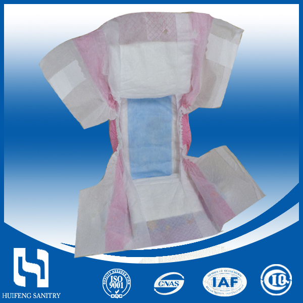 Wholesale high quality cotton soft disposable adult baby diaper with magic tapes