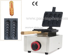 4pcs Commercial Use Non-stick LPG Gas Lolly Waffle Dog Maker