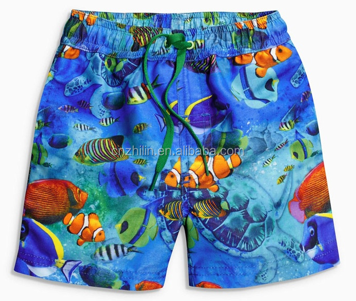 Hot !China Factory OEM Custom Children Summer Swim Shorts Brand Kids Beach Pants For Boys Swimwear