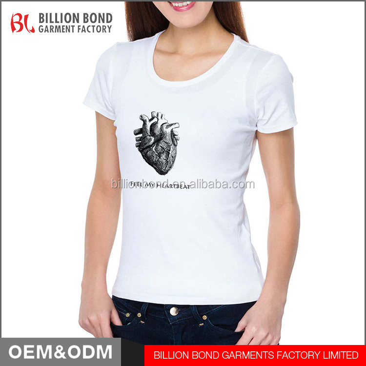 Best Quality Custom Cotton Printing Ladies Tops Short Sleeve T-shirt Women