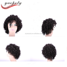 Factory Price Customized 100g short curly human hair wig men