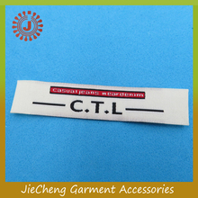wholesale famous brand name logo woven labels / woven tags / garment printed label for clothing