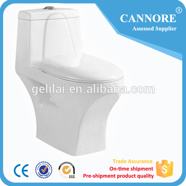 One Piece wc toilet OF S-Trap 250MM