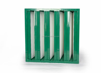 Hot sale Galvanized/plastic frame V-bank air filter (h12/h13 HEPA filter)