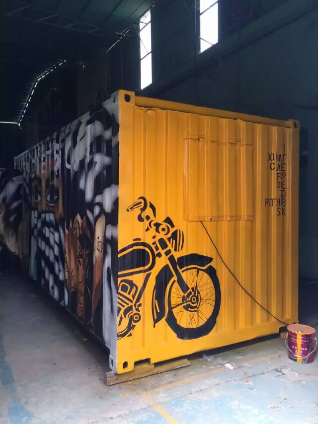 Second -hand container trailer restaurant