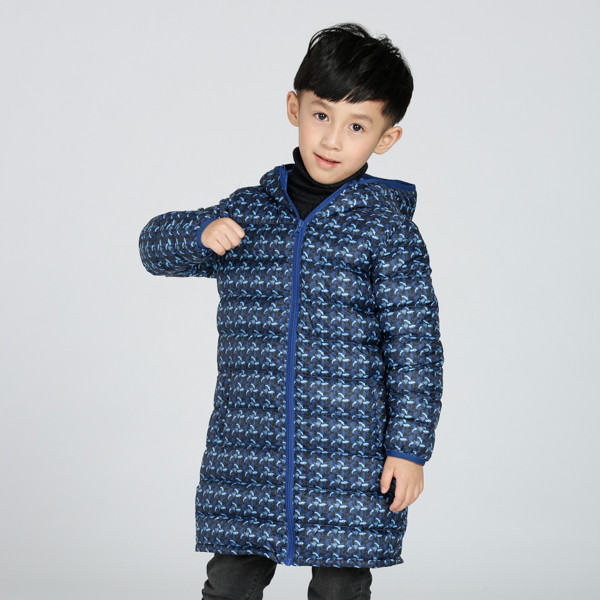 provide OEM service kids long down jacket for winter