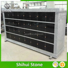 New design granite columbarium niche with cross Carving