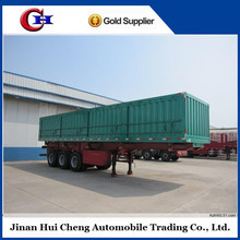 Jinan Huicheng used hydraulic self discharge sand 3 Axles 80Ton Semi Side dump truck trailer / side tipper trailer for sale