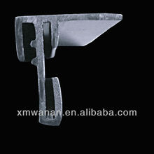 Black support extrusion ABS plastic profiles