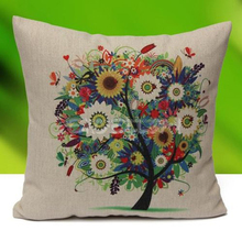 2015 China factory supplies wholesale alibaba selling well soft new design 100% cotton tree Plush Pillow Cases