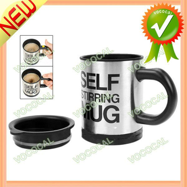 Self Stirring Mug Battery Powered Double Wall Coffee Cup Warmer
