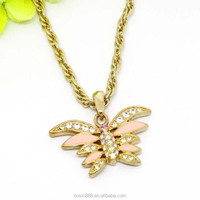 Fashion fake gold jewelry necklace,beautiful butterfly shape pendant necklace gold pendants necklace