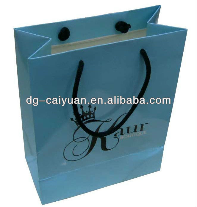 handle paper bag/full color printing bag/cheap paper bags