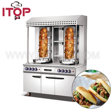 stainless steel GAS shawarma with cabinet kitchen restaurant used equipment