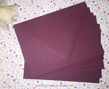 Burgundy Glitter Lined Euro Flap Envelope