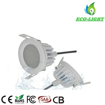 Anti-glare waterproof recessed round shape 9w SMD LED downlight