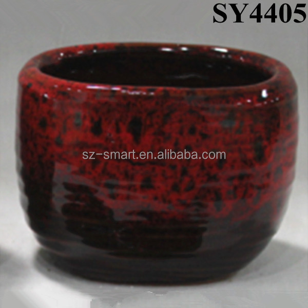Color porcelain ceramic plant pot table