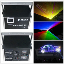 free shipping red green blue yellow pink white orange 7 in 1 5w full color rgb Animation ILDA DMX DJ laser light wholesale