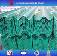 Hot Dip Galvanized Steel Two Wave Highway Road Safety Guardrail