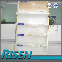 wholesale quality acrylic display for customized graphics, golden pie display