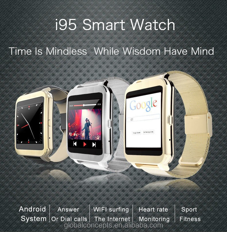 320*320 PX IP65 smart watch 6 sets clocks interface 1.54 inch touch sreeen i95 bluetooth smart watch for android IOS phone