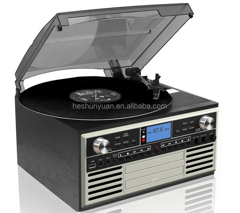 OEM&ODM Multi audio turntable cassette radio cd record player