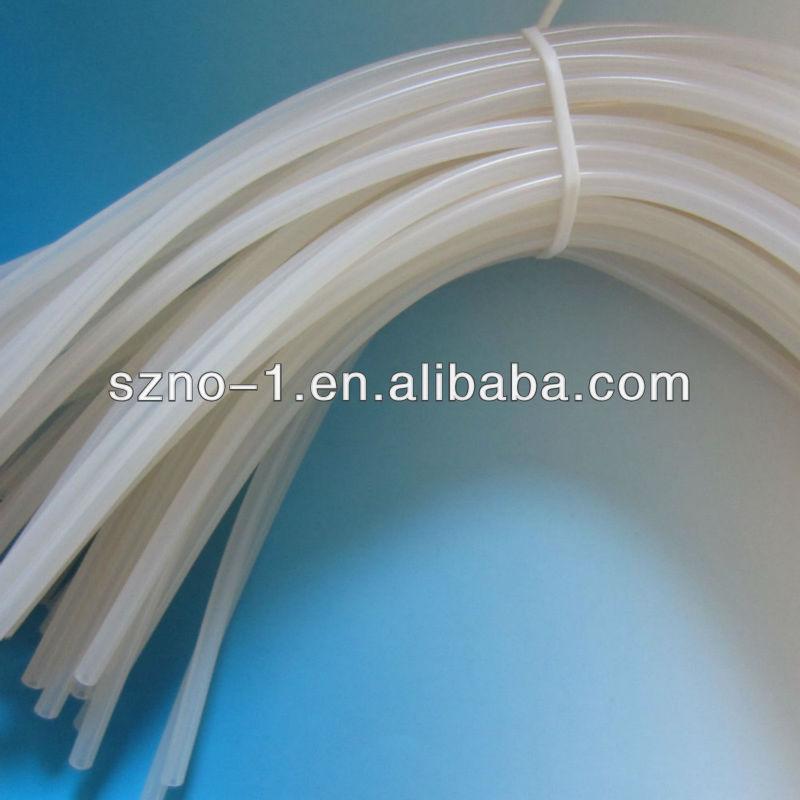 9*6 mm Eco-friendly Flexible Customized Transparent Clear FDA Medica silicone tracheostomy tube