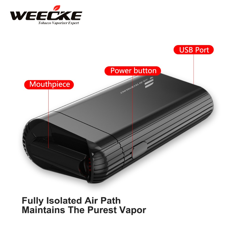 New design portable dry herb vaporizer 2016 with patented air heat technology, smart pocket vaporizer