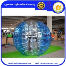 Blue n clear alternating bumper ball inflatable belly bump balls with low price GB7130