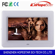 Hot seller ads display ads player 7 inch widescreen digital photo frame with full functions
