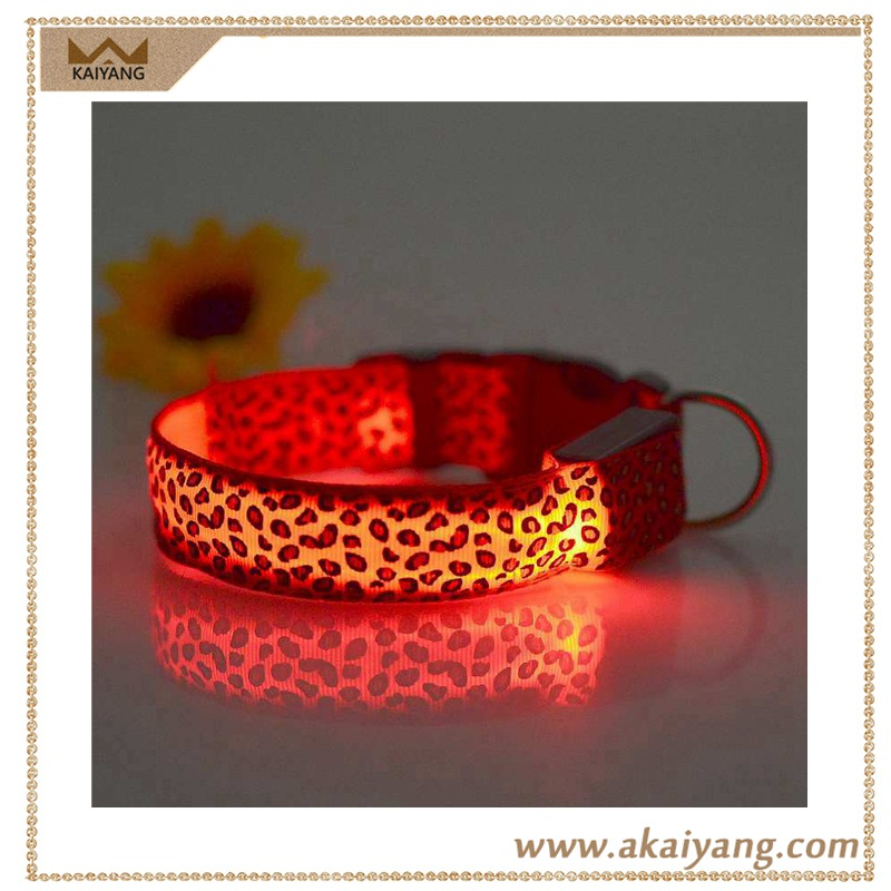 Bulk Hot Selling Nylon Flashing Led Hemp Dog Collar for Pets
