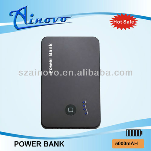 5000MA polymer battery rubber printing power bank for htc one x