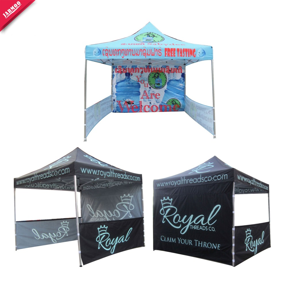 logo print pop up big outdoor event tent